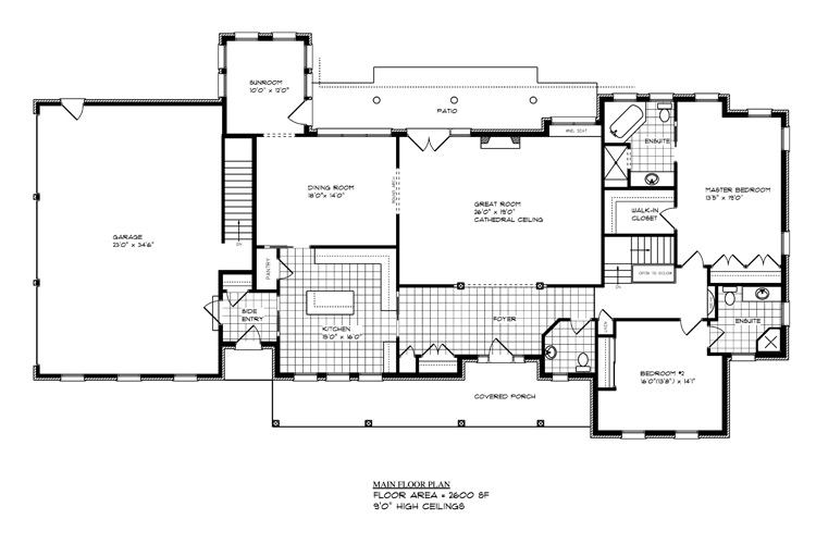 L13510 portfolio g curnock associates for Main level floor plans